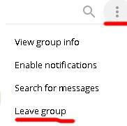 Выйти из группы